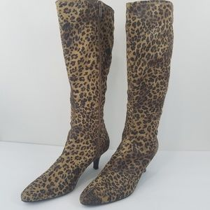 Impo stretch knee high leopard print boot